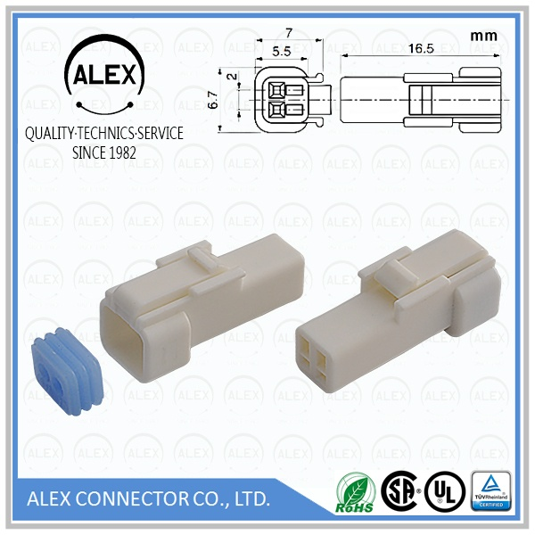 "Receptacle Housing / .079""(2.00mm) Waterproof Connectors System"